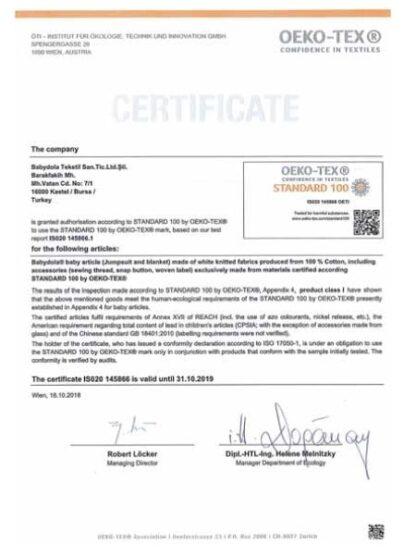 babydola-oekotex-sertifikası